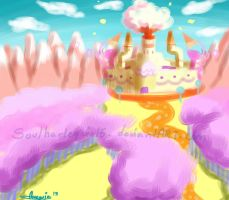Candy Kingdom Impressionism inspired by Snowflake-owl