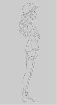 Final sketch, character for animation by polifuffle