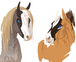 Mare and Equids WIP by ArtistMaz