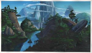 Lion King Background Painting by AlexanderHenderson