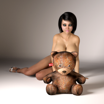 Girl and Bear by Grendaar