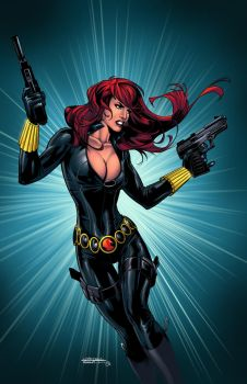 Black Widow colors by spidey0318