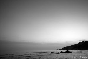 Licata beach in BW by Metalelf0