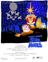 Angry Birds Star Wars: Original 1977 Poster by FanAngryBirds