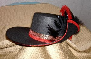 Red Musketeer Hat 2 by MistressKristin