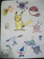 Pokemon Doodles! by waterflower14