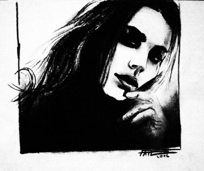 the girl drawn with charcoal by LUCIUSFate