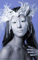 Snow Queen Beaded Leather Headdress by Beadmask