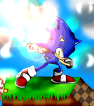 Sonic on the green hill by NSMBXomega
