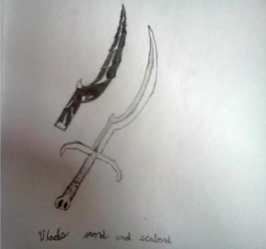 Unknown: Vlad's Sword and scabbard by Reaper81609