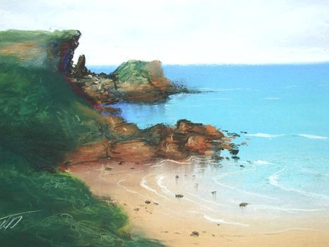 Practice--Seascape by Laughing-Dove