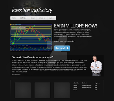 'Forex' - Web Design by hthorpe