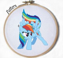Rainbow Dash Cross stitch pattern by JuliefooDesigns