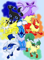 Eeveelutions by heavenriver