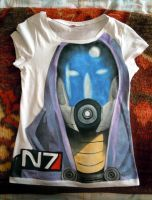 Tali hand painted t-shirt 1 by IfWereLost