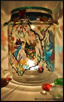 Fairy and Butterfly Candle Holder by Bonniemarie