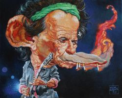 Keith Richards 1 by oazen2008