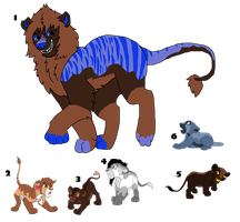 CLOSED lion adopts by OutTheBoxes