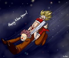 Natsu and Lucy - Happy New Year! by Eva-Dudu