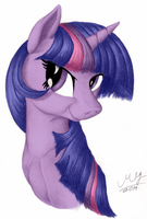 Twilight Sparkle Portrait (Colored) by Graboiidz