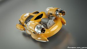 Retro Hover Car Back by aXel-Redfield