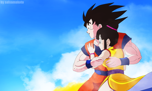 goku y milk by salvamakoto