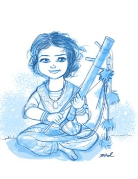 Young musician by rkamalart