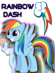 Rainbow Dash T-Shirt Design by iamthemanwithglasses