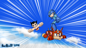 Megaman and Astroboy - To the Rescue! by Parlinten
