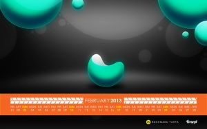 Free Calendar of February 2013 by yahya12
