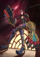 Vi - League of Legends by BADCOMPZERO