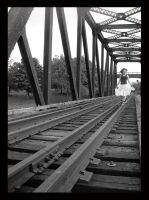 lauren on the tracks by crushedovernight