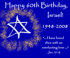 Happy 60th Birthday, Israel by mouselady