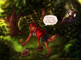 Stalked Red Riding Hood by hugMEETSkiss
