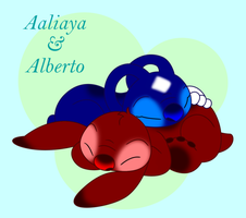 Aaliyah and Alberto -trade by LittleTiger488