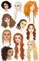 ASOIAF ladies by CourtneyTrowbridge