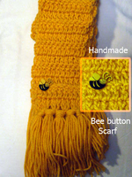 Bee button Yellow scarf by SewAnimated