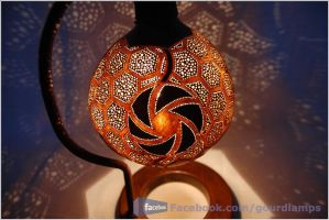 Handmade Gourd Lamp by Gourdlight by gourdlight