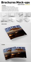 Photorealistic Square Brochure Mock-ups by andre2886