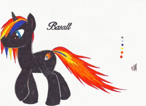Basalt My little pony OC by lemonthecombustible