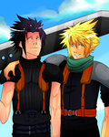 + Cloud and Zack + by chi-u