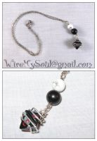Game Girl Necklace by WireMySoul