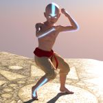 Aang WIP by eswallace2001
