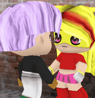 Buddypoke: Trunks X Angel Animation -Forced Kiss 3 by Knuxamyloverfan
