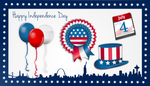 4th July Vector Set by gnokii