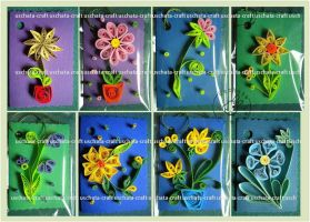Quilling - Flowers by Eti-chan