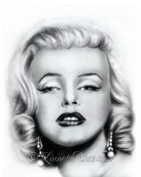 Marilyn Monroe 1st portrait. by LinnetRose