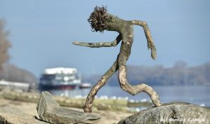Driftwood art in Hungary by tamas kanya Land art by tom-tom1969