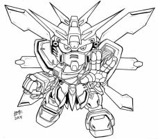 SD God Gundam by Mintyrobo