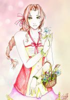 Aerith Kingdom Hearts 2 by izzycool91